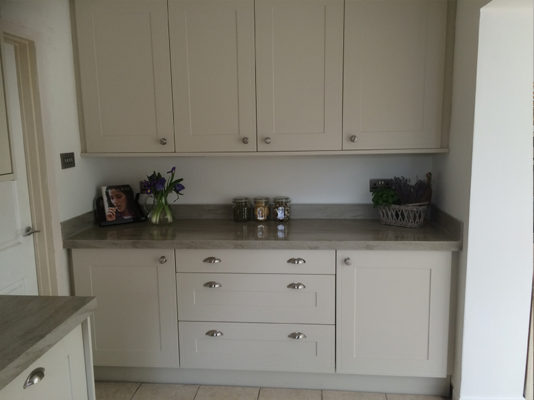 Corian Sage Brushed Worktop