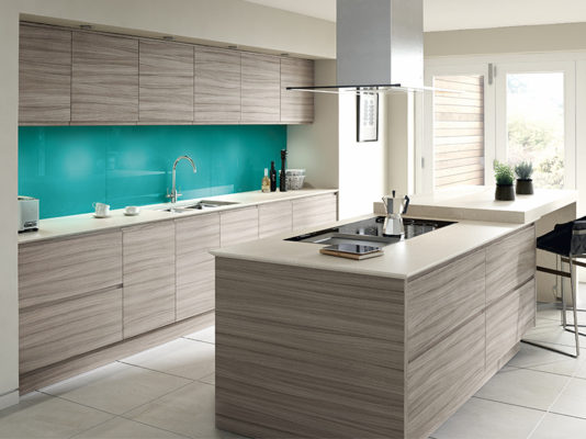 Fitted Modena Driftwood Kitchen